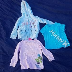 Roxy & Hurley shirts and sweater